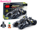 [Bainily] super herói batman corrida modelo de carro caminhão técnica legoe batman building block define diy brinquedos compatíveis para o presente das crianças