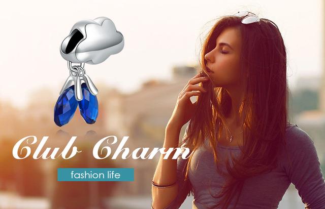 Blue Sky Cloud Sapphire Charm