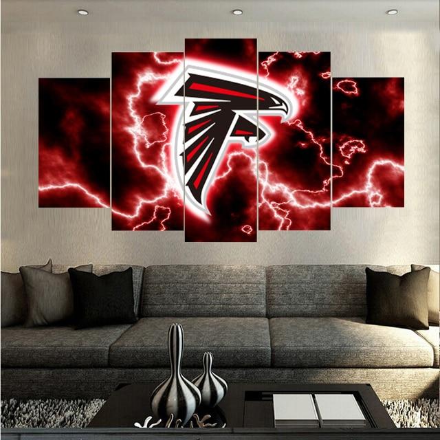 996ec49a511 New Designer Famous Atlanta Falcons Logo Prints Canvas Painting Calligraph Wall  Art Pictures Home Decor Boys Room Paintings