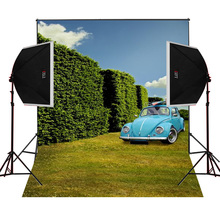 Blue car sunny scenic for photos camera fotografica studio vinyl photography background backdrop cloth digital props
