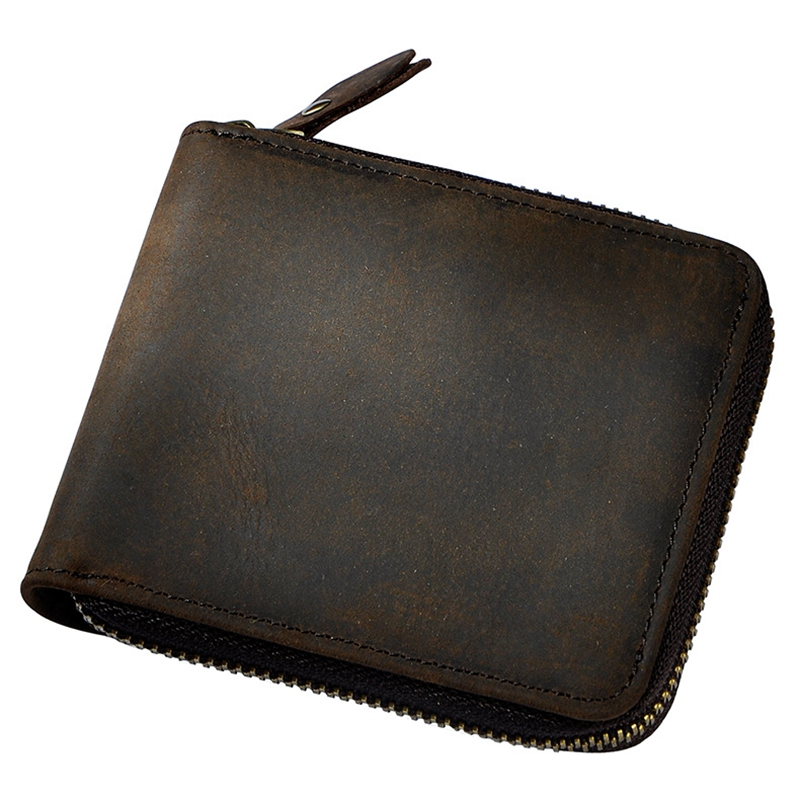 100% Genuine Leather Short Women Wallet Small Around Zip Wallet Coin Pocket ID Card Holders Purse Famous Brand Wallet For Men 2017 purse owl se cute wallets for children lovely coin purses for women mini bags for girls trinket small pouch wallet card zip
