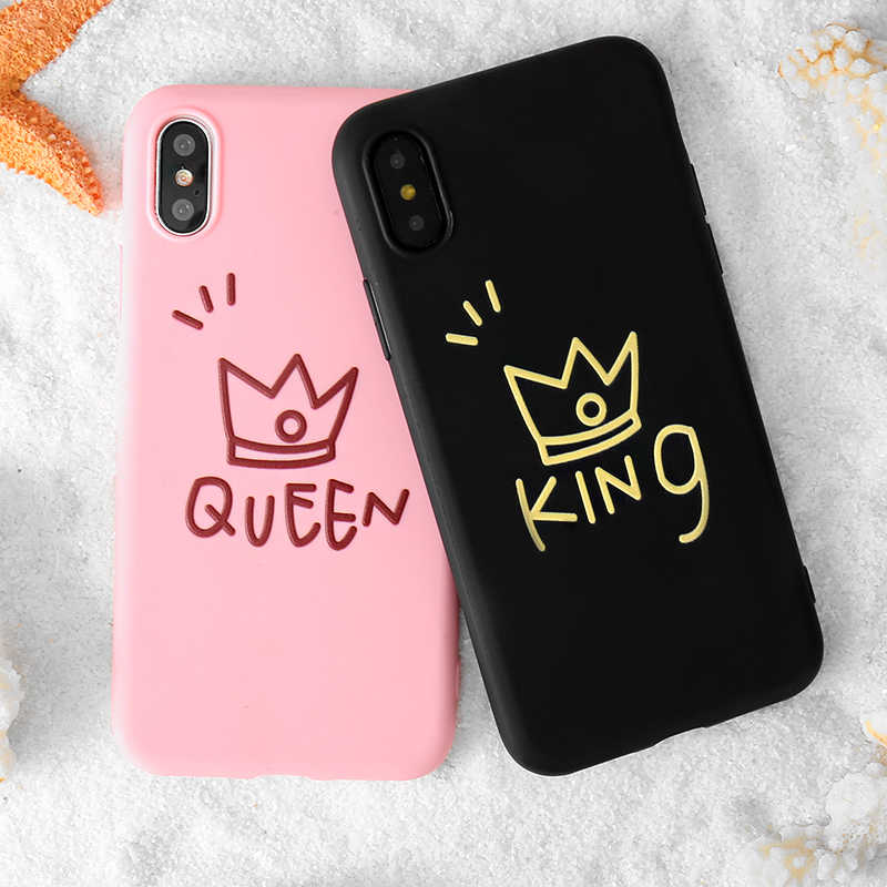 Capa protetora para iphone, capa tpu macia para iphone 5 5S se 6, queen e king, 6s 7 8 plus x xr xs max,