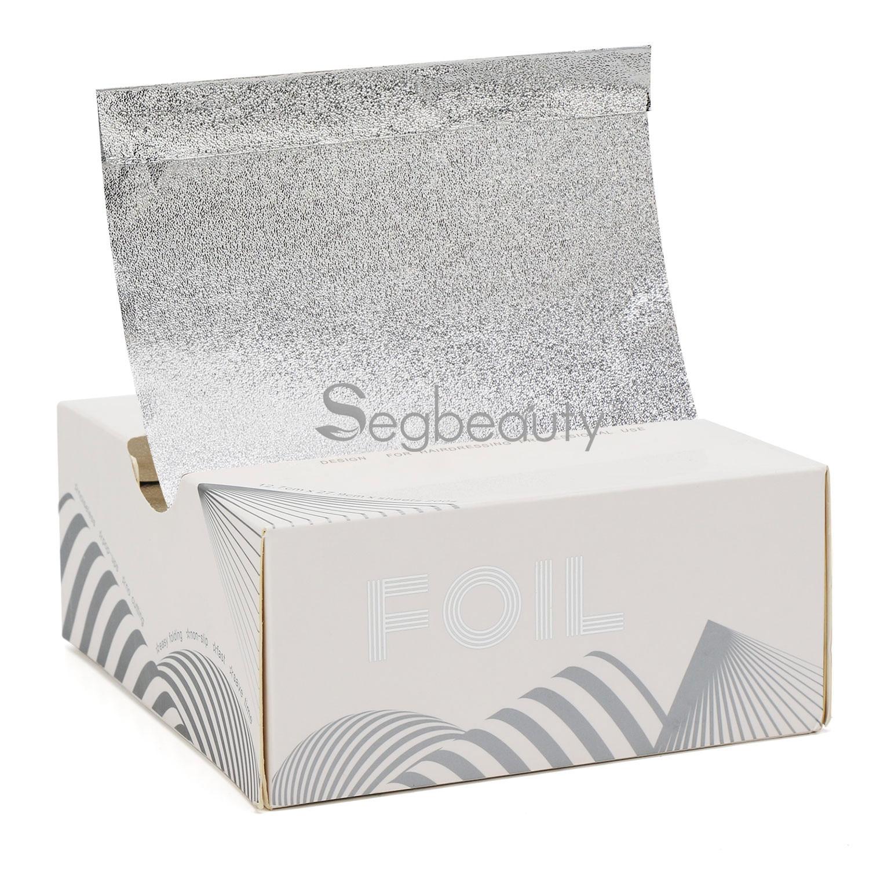 Professional 200 Counts Silver Pop-up Foils Aluminum Foils Sheet For Hair Foils Highlighting Hair Salon Beauty