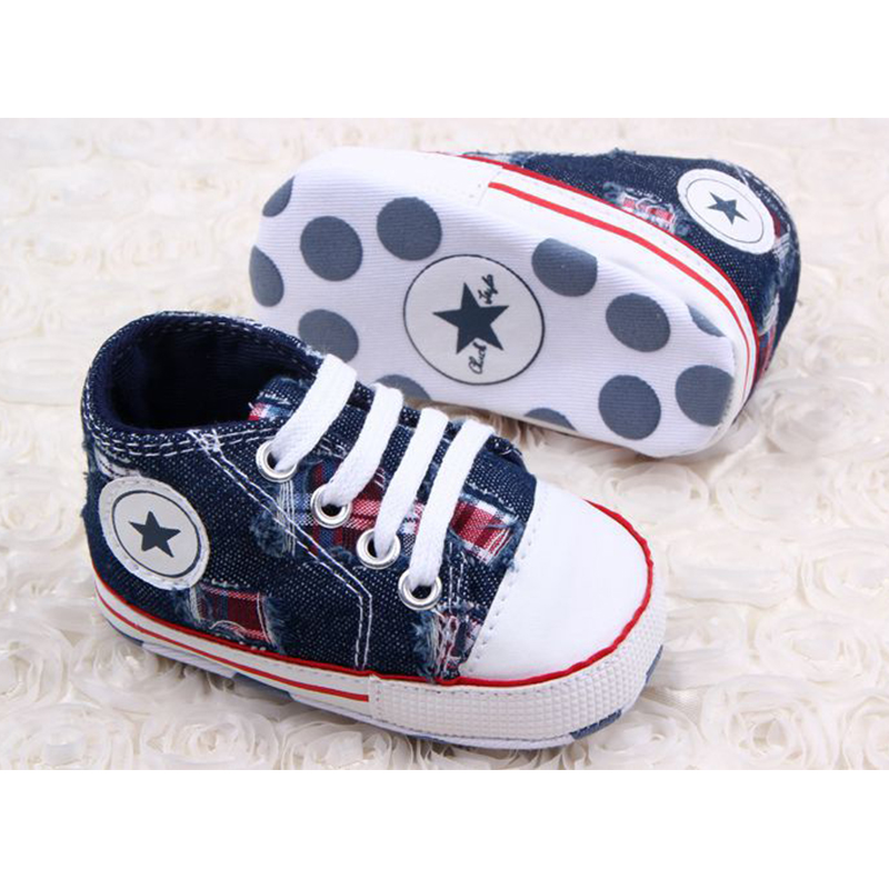DreamShining Baby Shoes Canvas Star Infant Newborn Toddler Shoes Spring Autumn Children Footwear First Walkers Baby Boy Sneakers