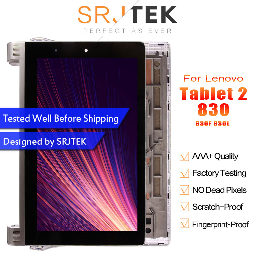 Srjtek 8 For Lenovo Yoga Tablet 2 830 830F 830L LCD Display Panel Mtrix Touch Screen Digitizer Assembly With Frame Tablet PCSrjtek 8 For Lenovo Yoga Tablet 2 830 830F 830L LCD Display Panel Mtrix Touch Screen Digitizer Assembly With Frame Tablet PC