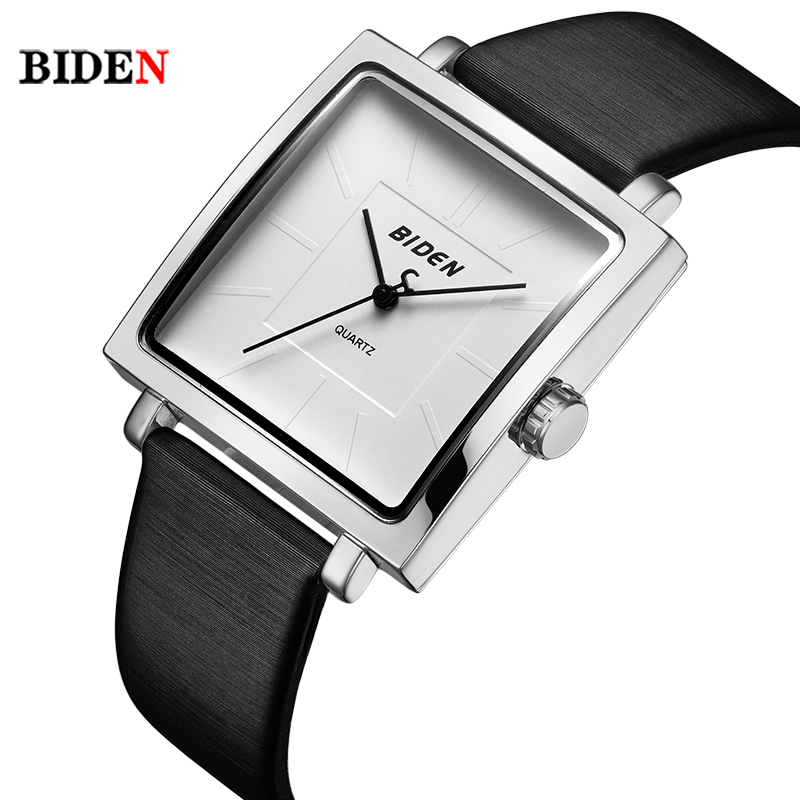 BlDEN Brand Square Dial Simple Design Women Watches Women saat Fashion Elegant Lady Dress quartz watch Mujeres miran 2017 lady gift enmex abstract patterns elegant temperam with simple unique design for young women fashion quartz watches
