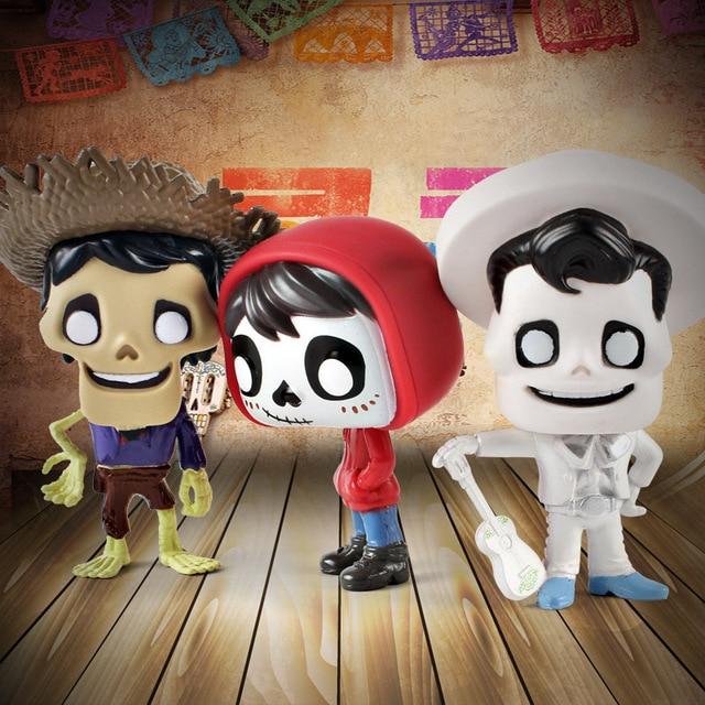 Funko pop Movie Coco Pixar Miguel Action Figure Toys Collectors Miguel/Hector&De La Curs pvc Action Figure Model toy for kids 1