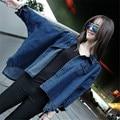 Autumn New Women Denim Jackets Korean Style Loose Batwing Long Sleeve Jeans Basic Coats Female Retro Casual Blue Jean Outwears