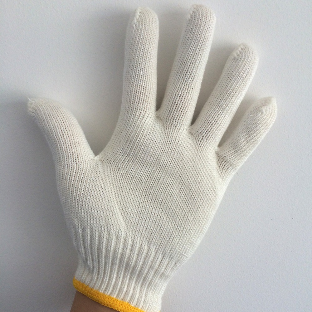 Yuntab new arrival protection white cotton gloves wear-resistant working gloves high temperature low temperature safety gloves oil free comfortable cheap nitrile gloves white nylon knitted hands protection gloves white mechanic construction industry