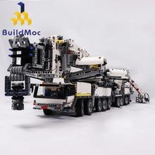 BuildMOC мощный мобильный кран здание LTM11200 RC либхеррр моторная техника Конструкторы Кирпичи подарок на день рождения детей C104