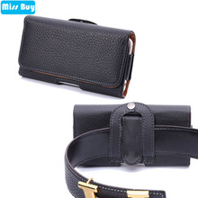 Missbuy Universal Phone Pouch Leather Waist Case For Samsung Galaxy J3 J5 J7 2016 2017 J330 J530 J730 Holster Bags Belt Cover