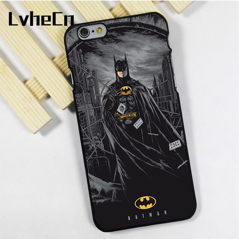 LvheCn phone case cover for iPhone 4 4s 5 5s 5c SE 6 6s 7 8 plus X ipod touch 4 5 6 back skins Batman Amazing Dark Night Joker