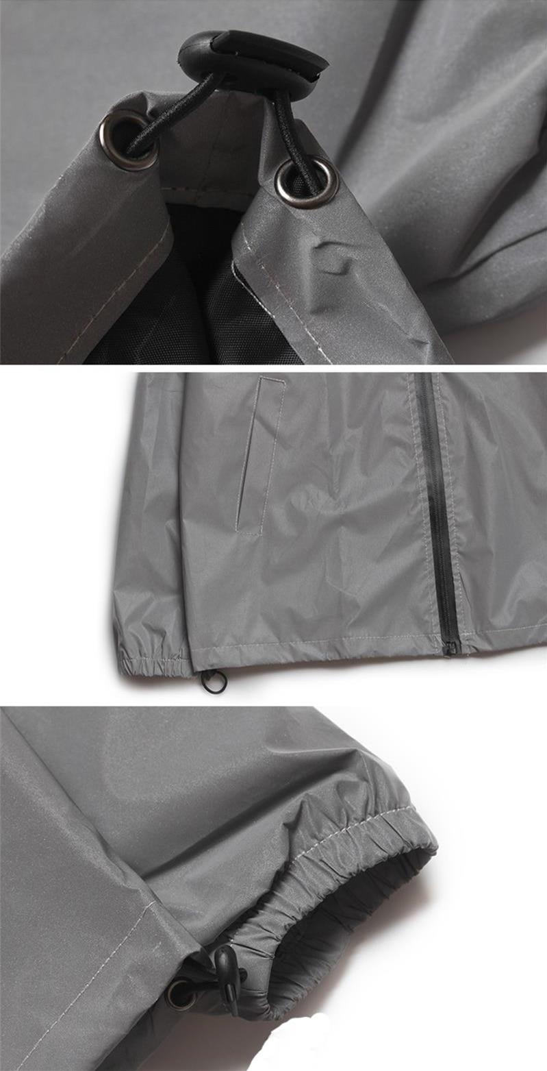 Plus Size 4XL Men Spring Autumn full reflective Windbreaker waterproof Jacket male High street hip hop Loose Hooded Coats 12