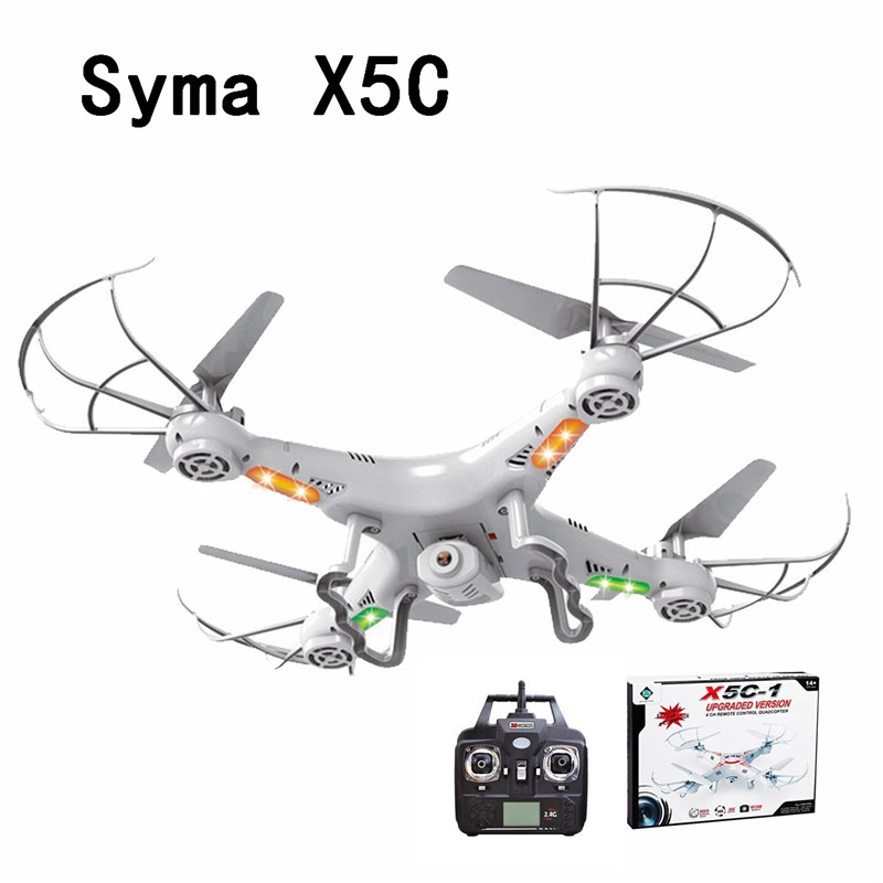 SYMA X5C (Upgrade Version) RC Drone 6-Axis Remote Control Helicopter Quadcopter With 2MP HD Camera or X5 RC Dron No Camera syma x5c drone 4ch 6 axis remote control quadcopter with 2mp hd camera rc helicopter dron toys for children