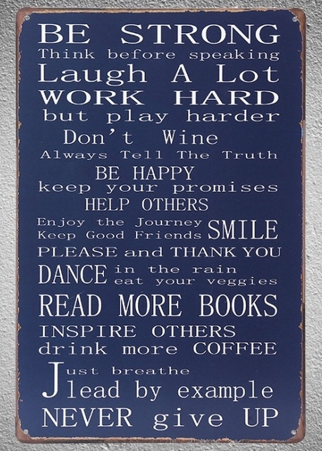 60 Pc Life Quotes Love Books Happiness Inspire Tin Plate Sign Wall New Love Plaques Quotes
