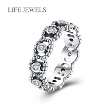 Authentic100% 925 Sterling Silver Austrian Zircon Rings Charm l Women Luxury Valentines Day Gift Jewelry 18115