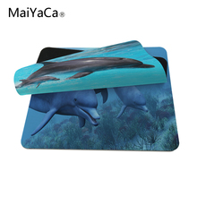 MaiYaCa Dolphins Under the Sea Mouse Pads Computer Gaming Mouse Mat 18*22cm,20*25cm,25*29cm Non-Skid Soft Rubber Mousepad