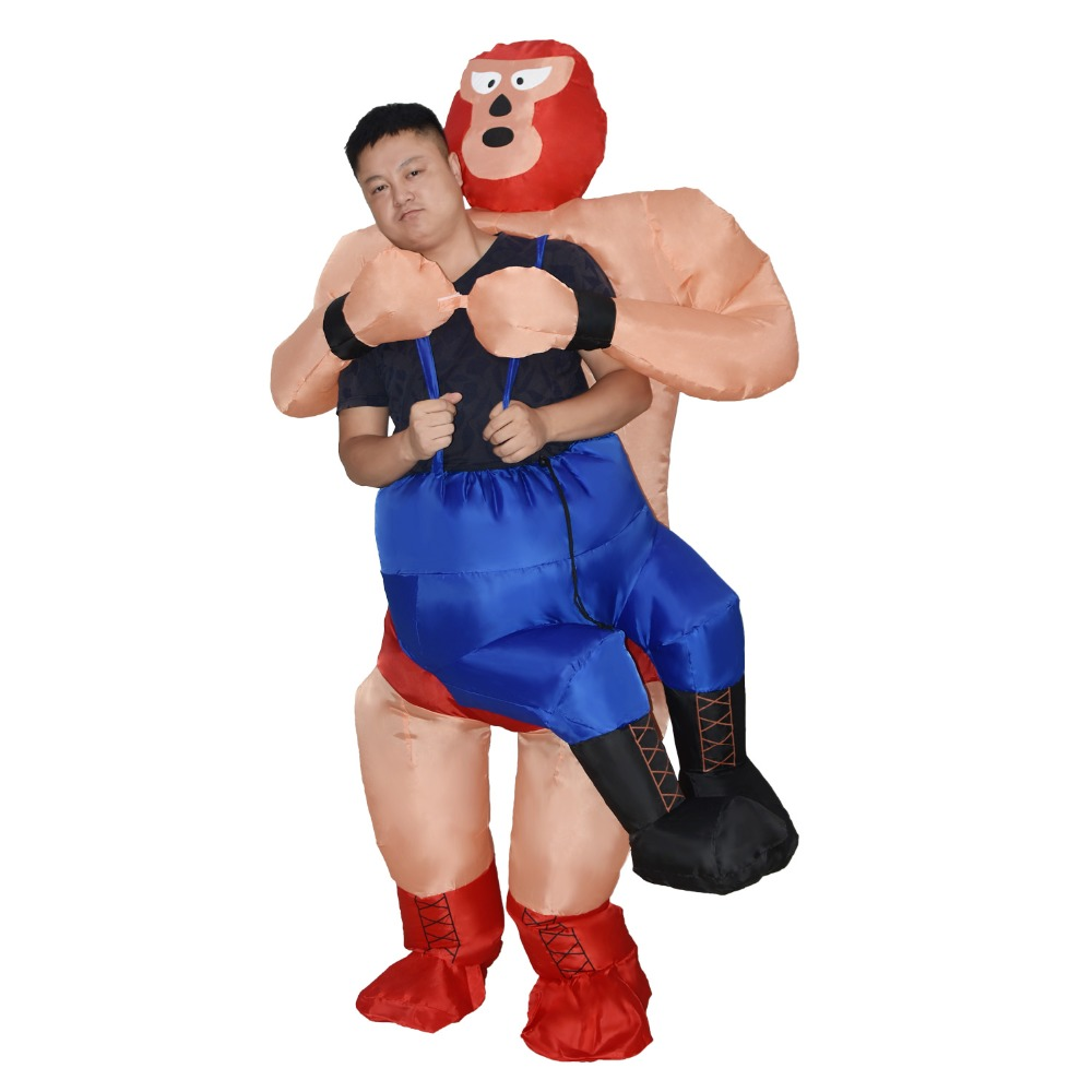 Inflatable Wrestler Costume Halloween Costumes for Adults Carnival Party Cosplay Costume Inflatable Wrestling Costume for Men