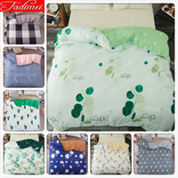 Green Leaves Pattern 1 pcs piece Duvet Cover Adult Kids Child Soft Cotton Quilt Case Bedding Bag Single Full Queen King Big Size