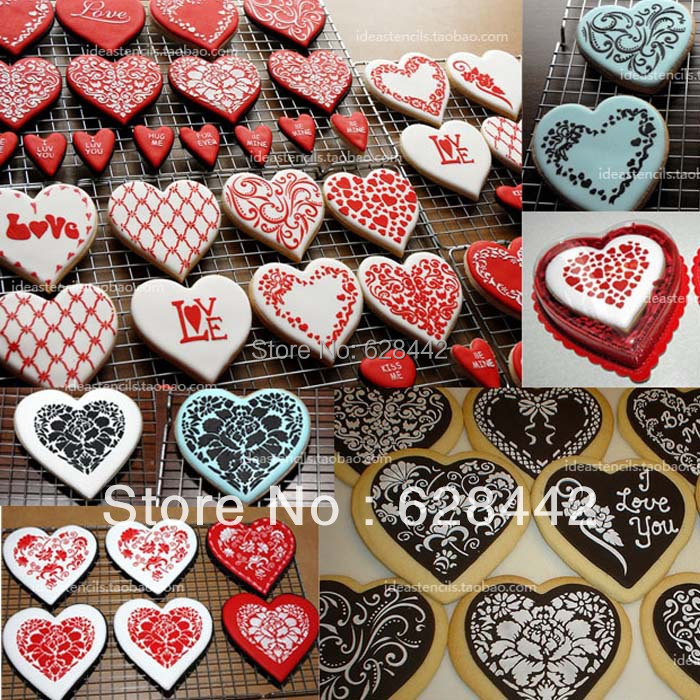 Cookie Decorating Stencils with Cookie Cutter Bridegroom Cake     Cookie Decorating Stencils with Cookie Cutter Bridegroom Cake Plastic Cookie  Mold Kitchen Stencils Stencils for Cookie Cake Tool in Cookie Tools from  Home