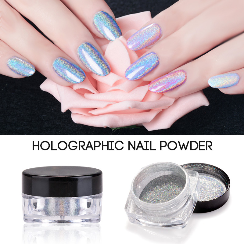Holographic Laser Powder Nail Glitter Rainbow Pigment Holo
