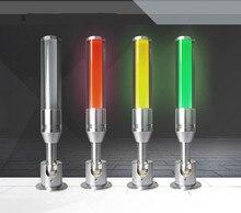 10 pces led lâmpada indicadora 3 cores em 1 camada máquina lâmpada de advertência oficina sinal buzzer 24 v alarme cautela som luz segurança