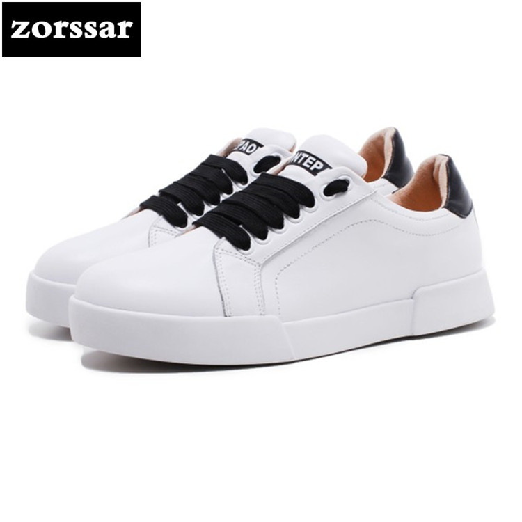 {Zorssar} Real cow leather summer Women flat platform Shoes Casual ladies Sneakers shoes Flats Loafers white Female Moccasins hzxinlive 2018 flat shoes women breathable flats shoes for women ladies casual platform female fashion summer sneakers footwear