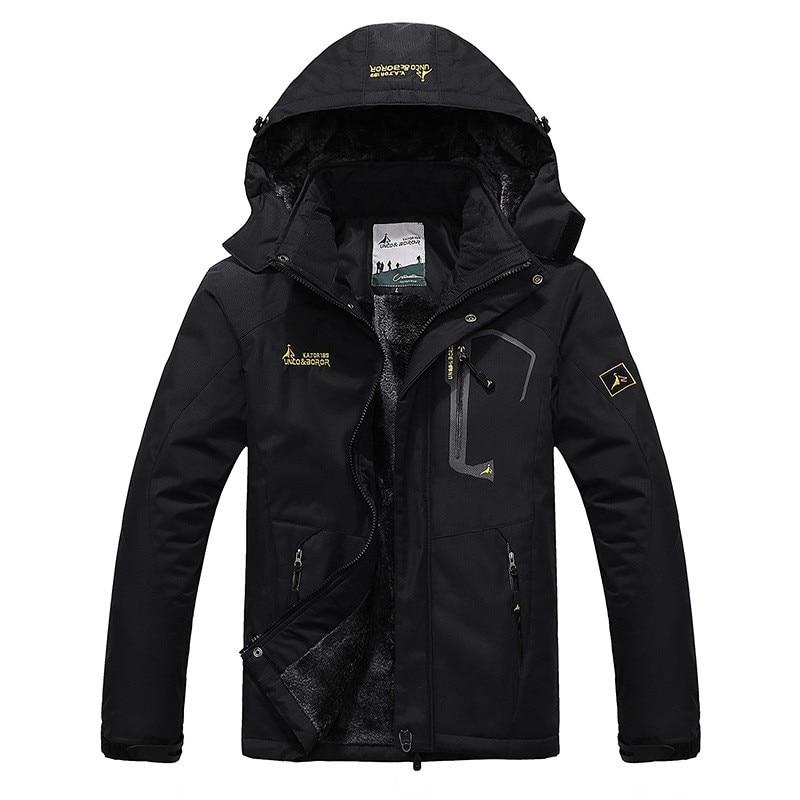 2018 hiver chaud épais polaire veste hommes manteaux coupe-vent ski anorak vêtements d'extérieur coupe-vent randonnée à capuche pardessus veste