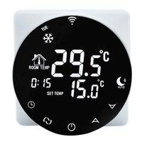 3A Wifi Thermostat Voice Smart Water Heating Thermostat Black Digital Alexa /Google Home Winter Warm LCD NTC Sensor Thermostat