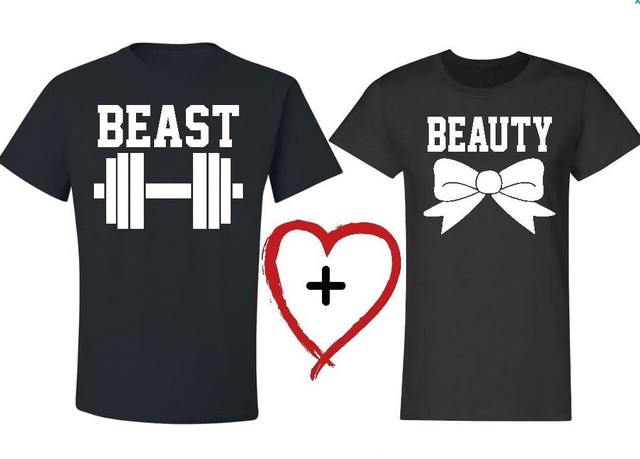 fc346d9439f 2018 New Beauty and the Beast Letter Print Couple Women Men Tshirts Cotton  Casual t Shirt For Lady Top Tee Hipster Tumblr Black