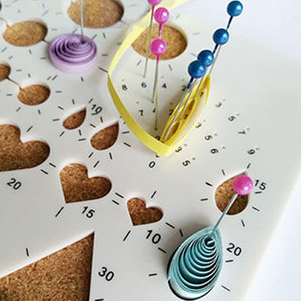Paper cute Quilling Template Mould Board Papercraft DIY Crimper Art ...