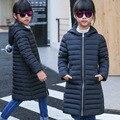 Das crianças criança para baixo casaco longo para baixo meninas jaqueta em grande parágrafo luz seção 2017
