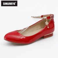 SIMLOVEYO New Sexy Women Round Toe Shoes Woman Chunky Heel Pupms Fashion Low Heel Footwear Thick Sole Chaussures B436