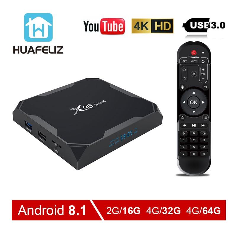 Android 8 1 TV BOX X96 MAX Amlogic S905X2 4GB 32GB 64GB TV BOX 2 4G