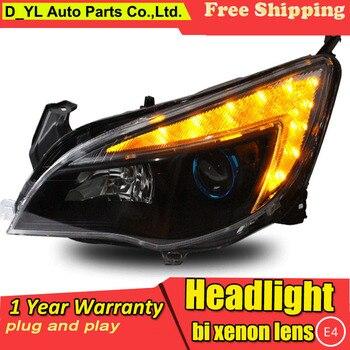 D_YL Car Styling for Excelle XT Headlights 2010-2012 Excelle XT LED Headlight DRL Lens Double Beam H7 HID Xenon bi xenon lens