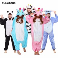 Cosplay Onesies Panda Stitch Totoro Unisex Adult Onesie Unicorn Pajama Sets Women Pajamas Christmas Cartoon