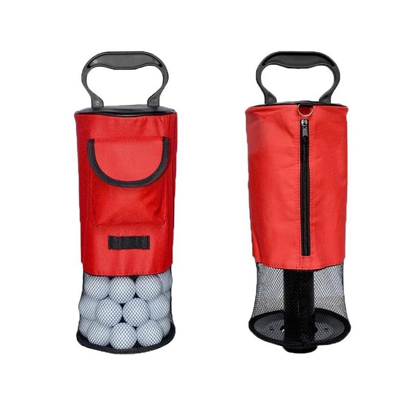Golf Ball Retriever Zipper Pick Up Shag Bag Holder Practice Collector EDF88