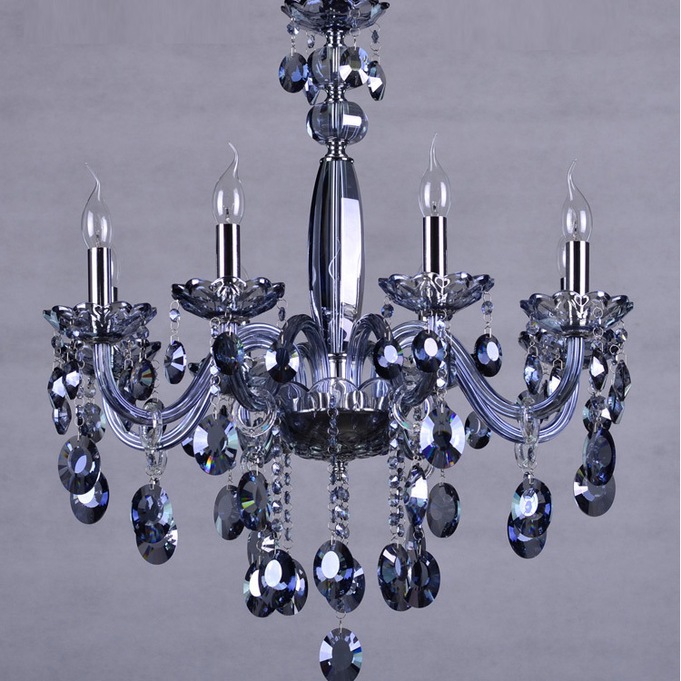 US $328.0 |6 8 arms Blue Led candle chandelier crystal droplight Kitchen  lighting Bar Blue chandelier for sitting room luxury Led lamparas-in ...