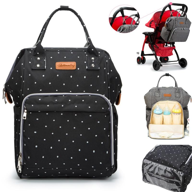Fashion Mummy Maternity Nappy Bag Stroller Hooks Large Capacity Baby Diaper Bag Travel Backpack Designer Nursing Bag Baby Care
