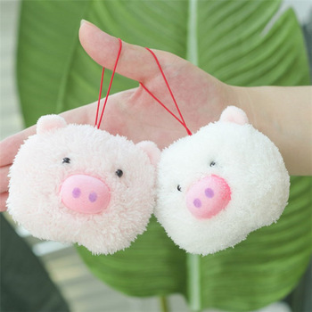 20pcs/lot Plush Pig Toy Baby Kid Mini Cute Stuffed Animals Doll GirlS Women Keychain Pendant Party Wedding Decor J05901
