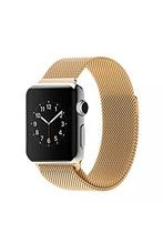 YCYS-Milanesa de Bucle de La Correa de Acero Inoxidable Hebilla Magnética Pulsera para Apple iWatch Todos Los Modelos de Oro 42 MM