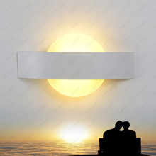 7W LED Wall Fixture Light 2835 SMD Lighting Acrylic Indoor Lamp Porch Bedroom Living Room