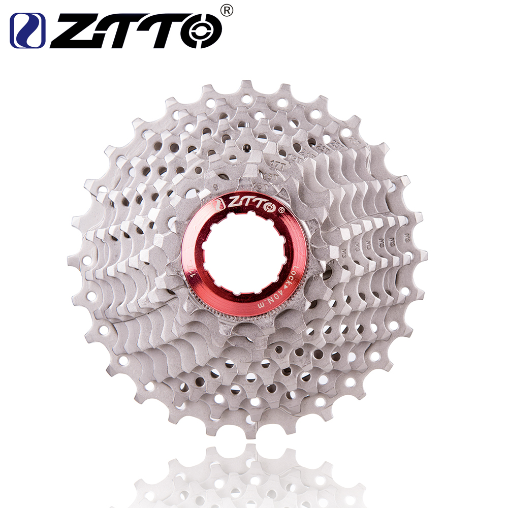 ZTTO 9s 11-28T Cassette 9 Speed Freewheel Road Bike Speed Sprocket for Road Bike