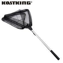 KastKing 90cm 160cm 210cm Folding Fishing Net Retractable Telescoping Aluminum Alloy Pole Super Large Folding Landing Net