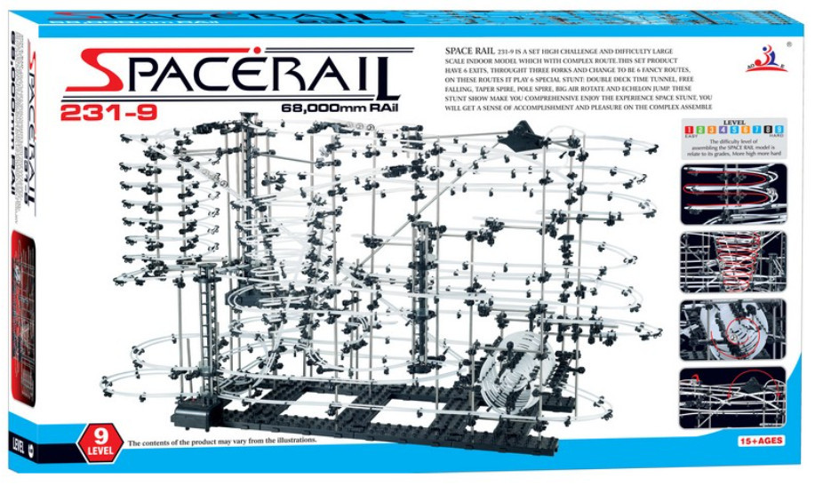 High Quality New Space Rail Funny Model Building Kit RollerCoaster Toys SpaceRail Level 9 DIY Spacewarp