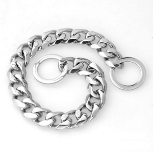 Image 4 - 15mm Strong Various Color Stainless Steel Dog Collar Dogs Training Choke Chain Collars for Large Dogs Pitbull Bulldog Necklace