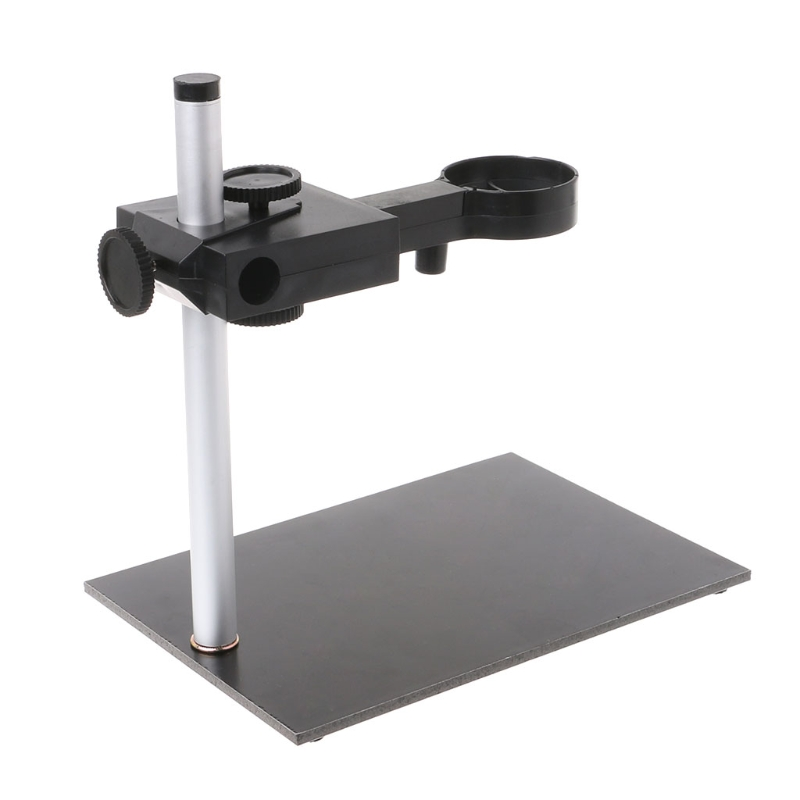Aluminum Alloy Microscope Stand Portable Up And Down Adjustable Manual Focus Digital USB Electronic Microscope Holder Stand