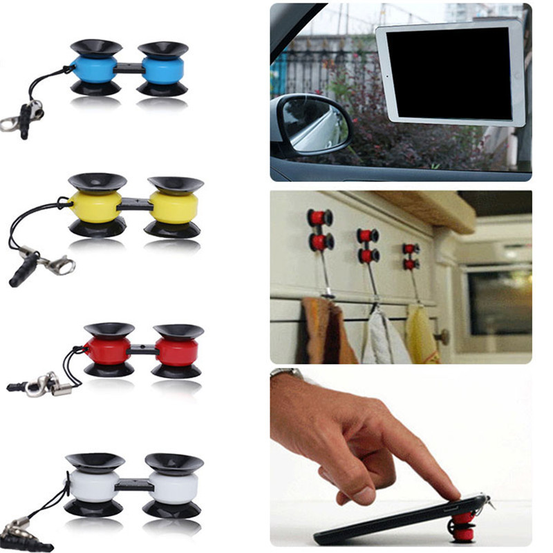 Innovative Car Dual sucker Mobile Phone Holders Stands Multifunctional Mini Car Phone Holders Mobile Phone Accessories