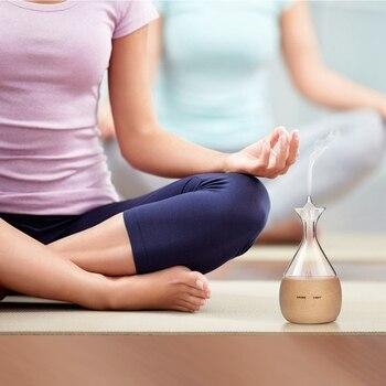 Difusores De Aceite Esencial Nebulizador Aromaterapia Aroma De Niebla Súper Fina Funcionamiento Silencioso Nebulizador Sensor Táctil Sin Calor Sin Agua
