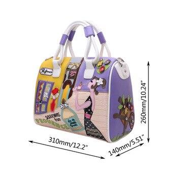 Reise Umhängetasche | Frauen Stickerei Handtasche Schulter Tasche Mädchen Europäischen Und Amerikanischen Stil Solide Zip Crossbody-tasche Cartoon Messenger Reise 2018